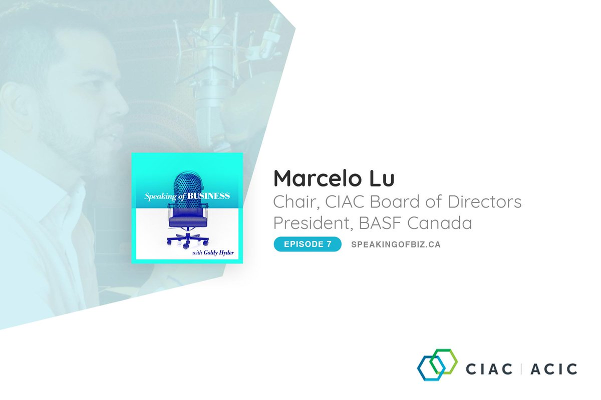 Check out the latest @SpeakofBiz podcast episode featuring @MarceloRochaLu1, CIAC Chair and President of @BASFCanada. Marcelo shares his unique story, as well as his vision for BASF Canada and Canada as a whole: http://speakingofbiz.ca/marcelo-lu/