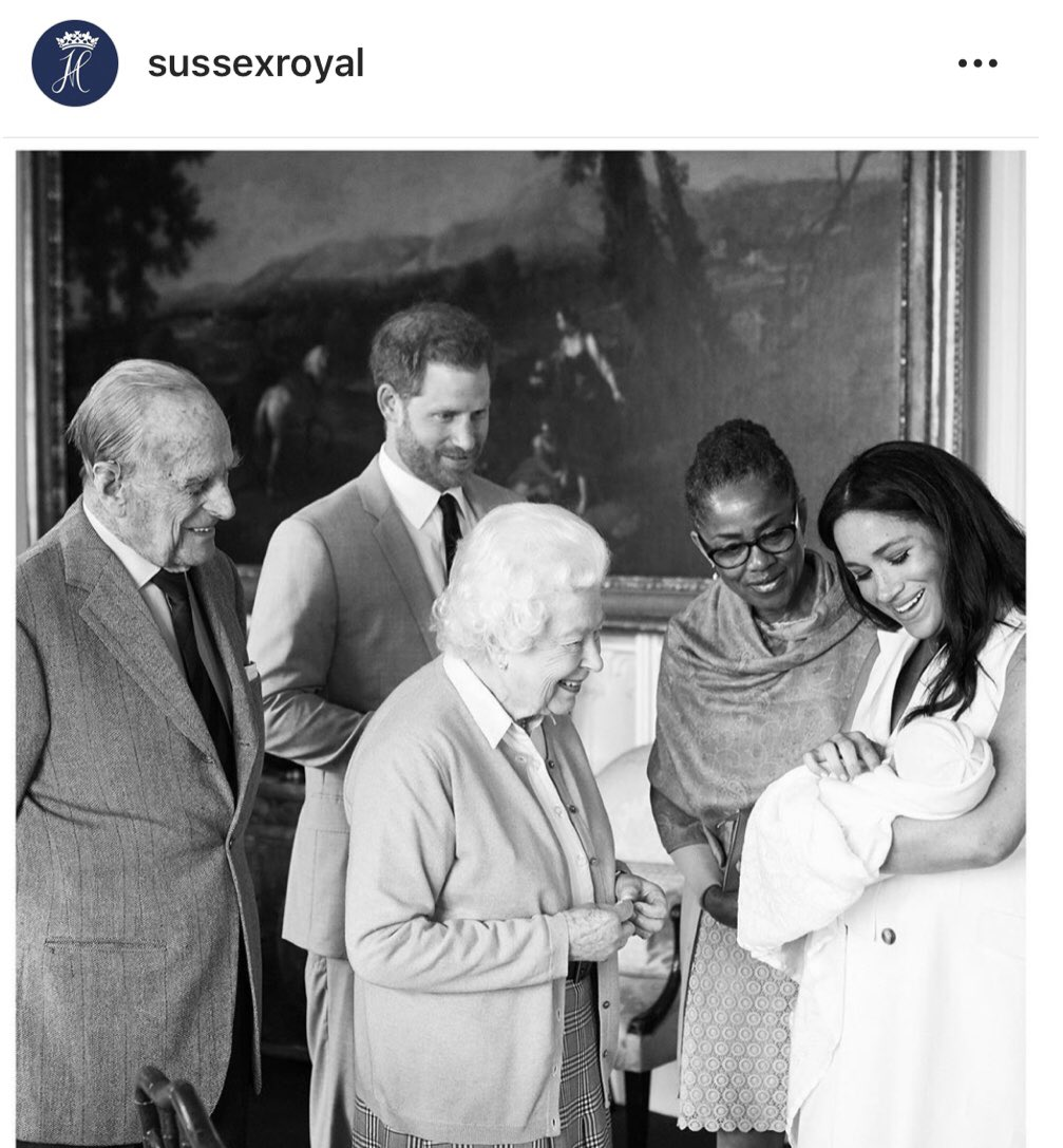 Baby Archie meets the Queen.