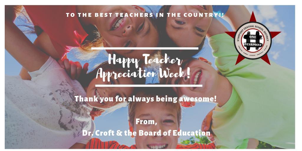 #TeacherAppreciationWeek @StarpointCSD
