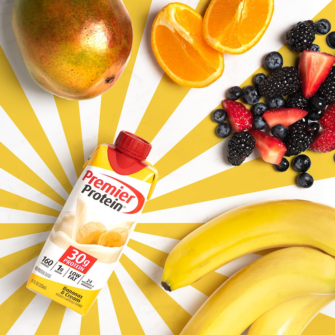 The Premier Protein shake you love + fresh fruit = tropical delight. 🌴 Recipe link in bio for our amazing Tropical Sunrise Smoothie! 🥭🍌🍊🍓 https://t.co/jZb3GC2JOb