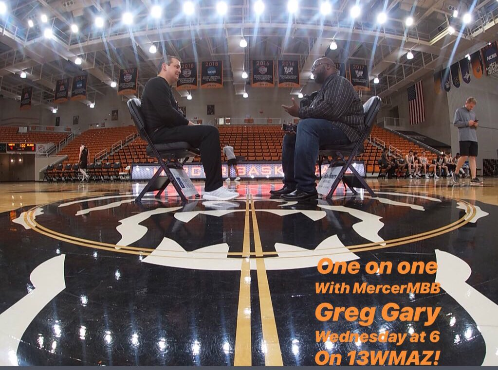 Tonight at 6pm on @13wmaznews I go one on one with @MercerMBB @CoachGregGary and talk about family, his basketball philosophy and what about @MercerYou made him decide to take the job. Join us tonight at 6pm.