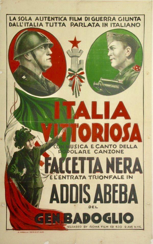"Propagandopolis على تويتر: """"Victorious Italy"" – 🇮🇹 Promotional poster for a 1936 Italian propaganda film about the war in Ethiopia… """