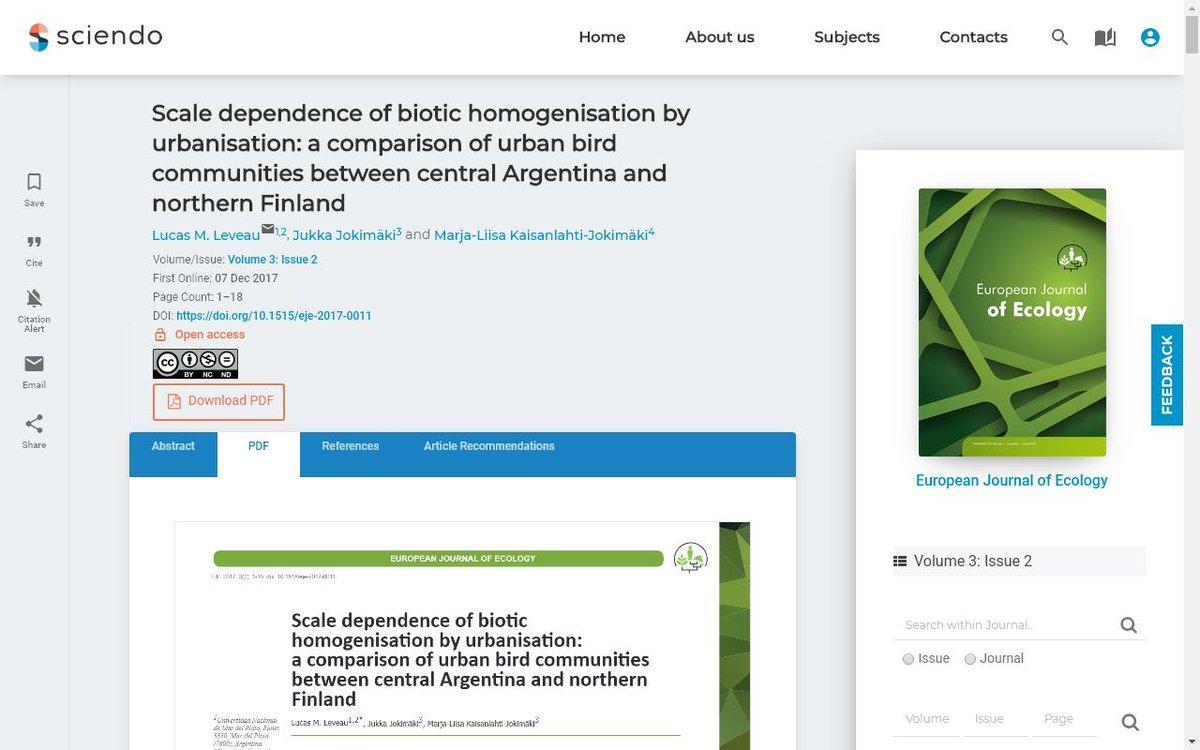 J Urban Ecology (@JUrbanEcology) | Twitter