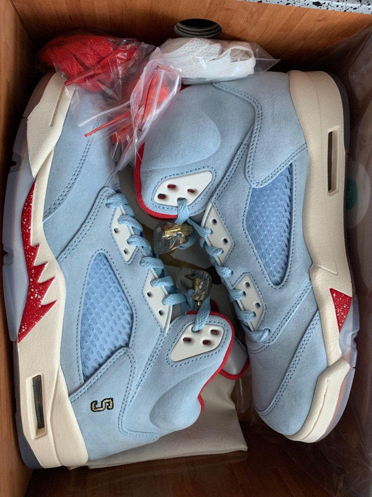 low priced 437a0 e2be8 ... at the Trophy Room x Air Jordan 5 Pack (via  ConceitedNYC)  https   sneakerbardetroit.com trophy-room-air-jordan-5-ice-blue-university-red-release-date   ...