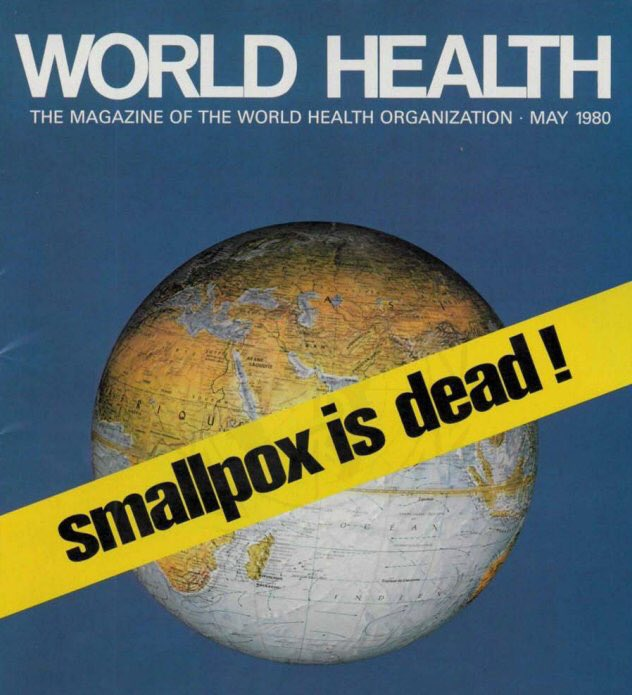List of #UN achievements is long & impressive  One important achievement is eradication of #smallpox  Through global efforts & collaboration of countries around the world, 39 yrs ago today World Health Assembly was able to officially declare smallpox eradicated   #multilateralism