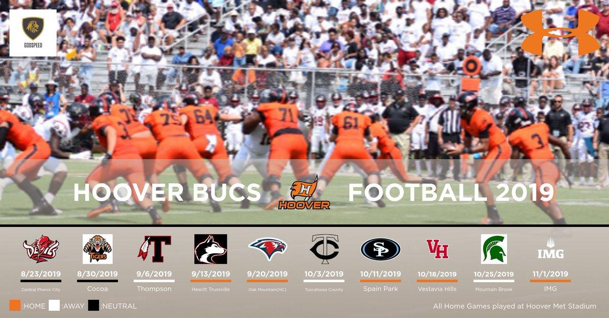 Hoover Bucs On Twitter Hoover Football Schedule 2019