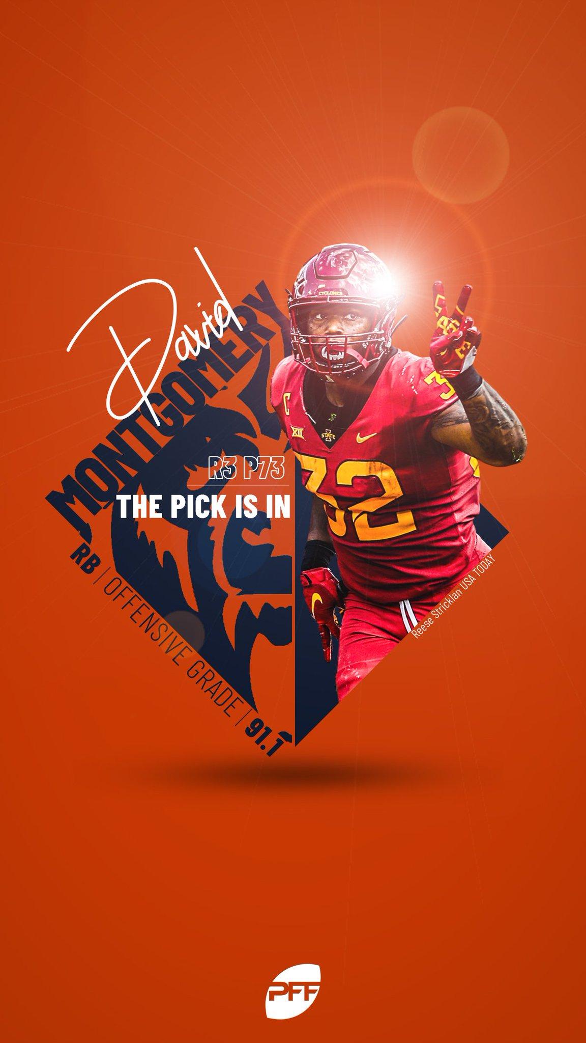Chicago Bears #32 David Montgomery Draft Game Jersey - Orange