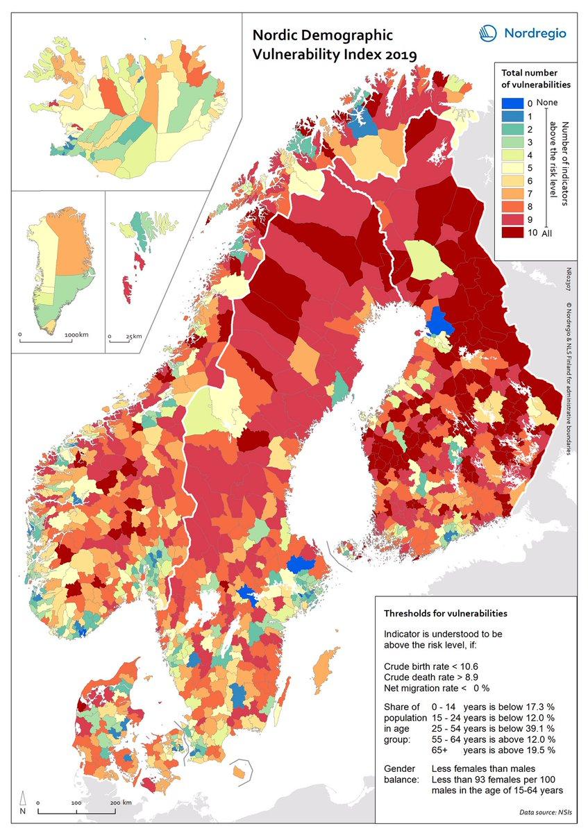 Timo Aro On Twitter Huikea Nordregio Kartta Pohjoismaiden