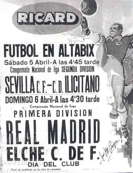 FUTBOL EN ALTABIX! Weekend doubleheader in April 1969. Elche Ilicitano vs Sevilla FC & Elche CF vs Real Madrid https://t.co/2EJnMi8x3g