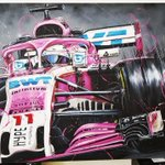 This incredible painting was donated by @DucretIdris and is being auctioned online for the benefit of my foundation @fundacionchecoperez.  We start with a bid of $65,000 MXN. The auction will conclude Sunday at 12:00 hrs. The highest bid will be announced at 14:00 hrs.