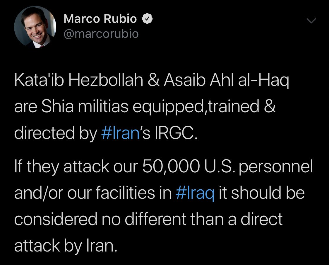 أمريكا: أرسلنا القوة الضاربة إلى الخليج بسبب تحضيرات إيران لمهاجمة عسكريينا D6EZsdUU0AE7a3s