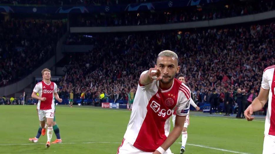 Hakim Ziyech le ponía pie y medio al Ajax en la final de la Champions League