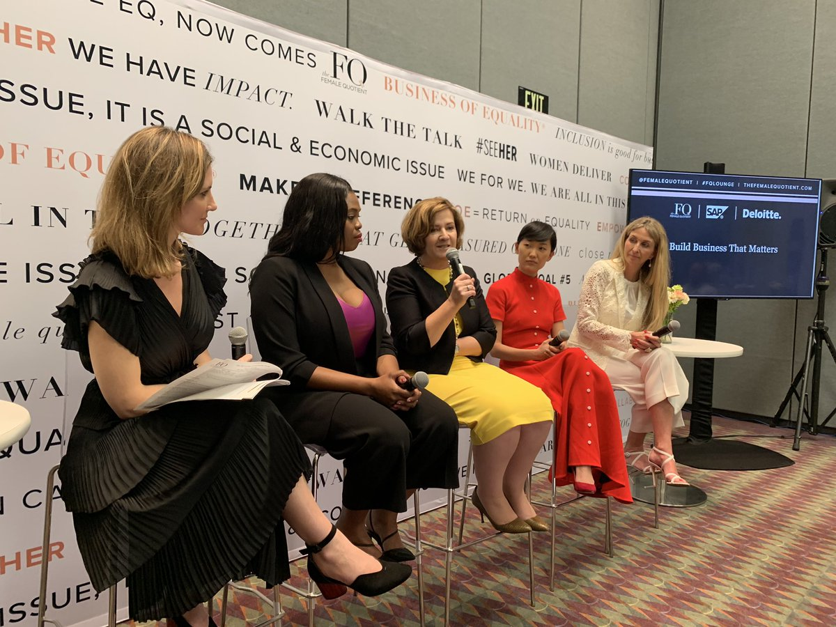 """Practicing social entrepreneurship is not just for social entrepreneurs -  @AdaireFoxMartin speaks at the #FQLounge at #SAPPHIRENOW """"Build Business That Matters"""" panel with @DeloitteDigital"""