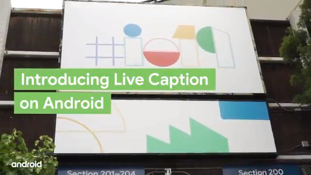 #Android is the first OS to provide captions for almost every app on your 📱. Learn how Live Caption opens up a new 🌏 of experiences. #io19