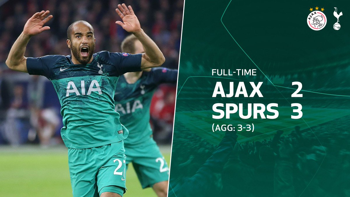 YESSSSSSSSSSSSSS! WHAT A COMEBACK. WHAT A FINISH. WE'RE HEADING TO THE CHAMPIONS LEAGUE FINAL!!! #UCL ⚪️#COYS