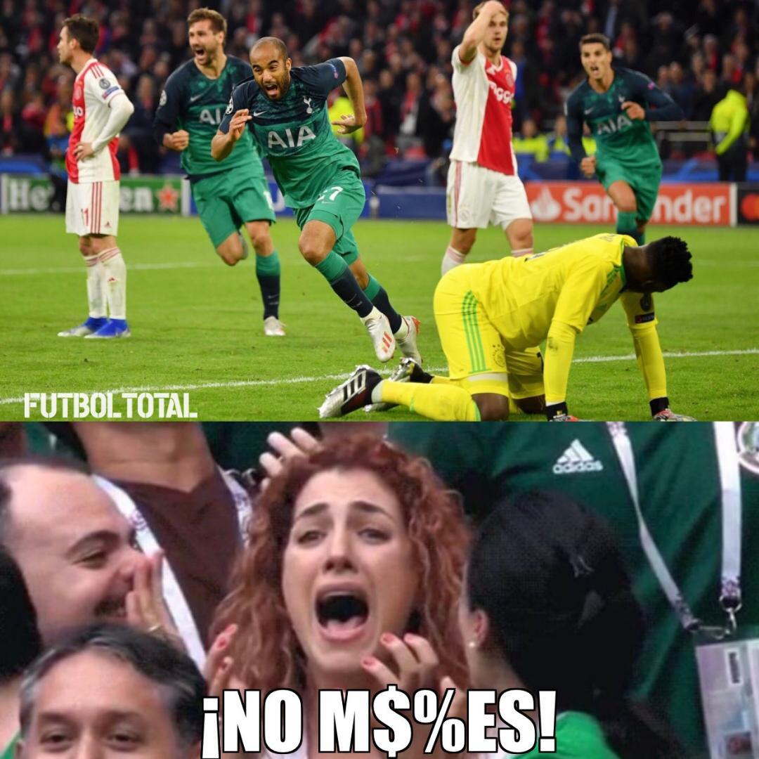 Los Memes Del Ajax Vs Tottenham Hotspur