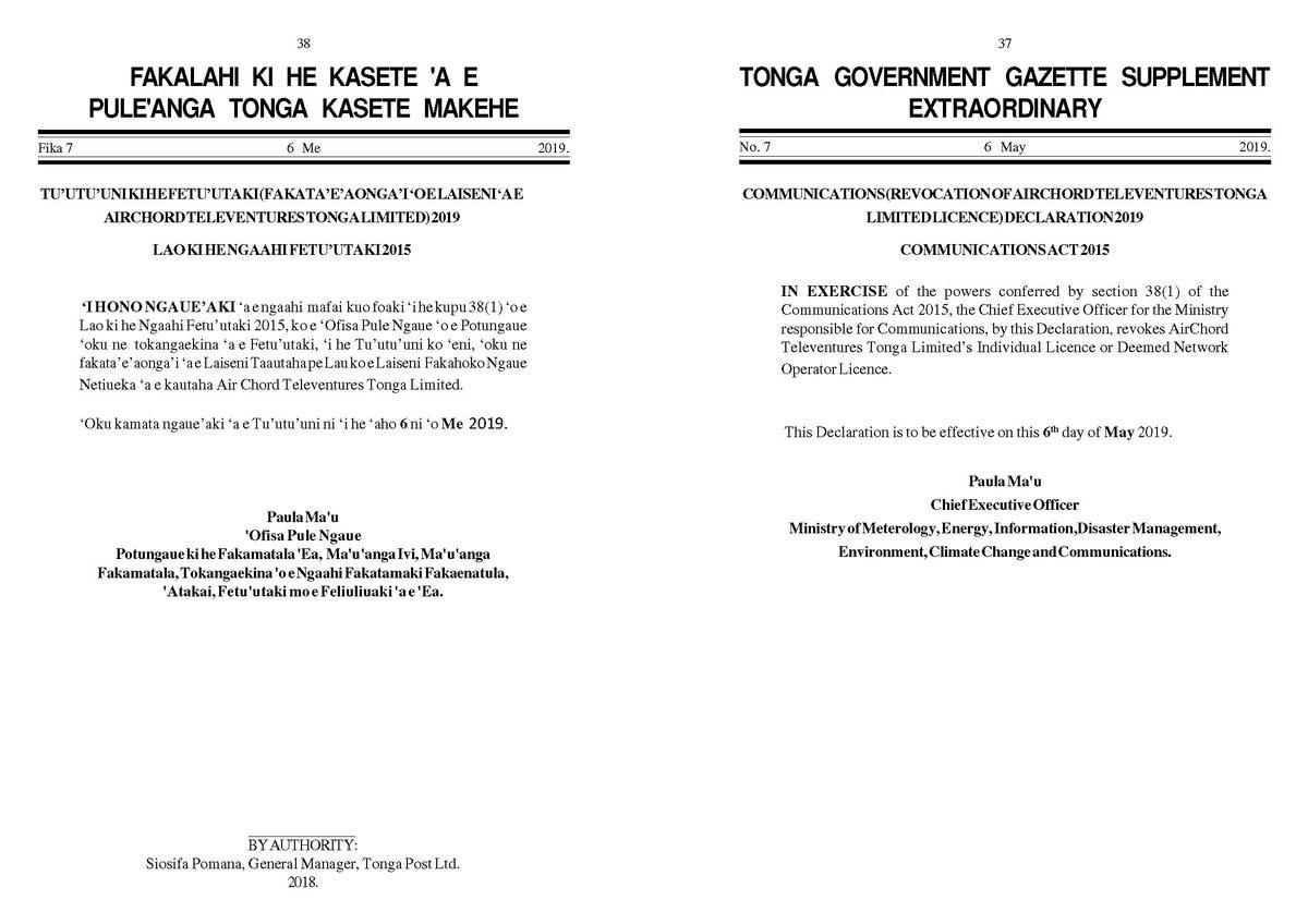 Attorney General (@AGO_Tonga) | Twitter