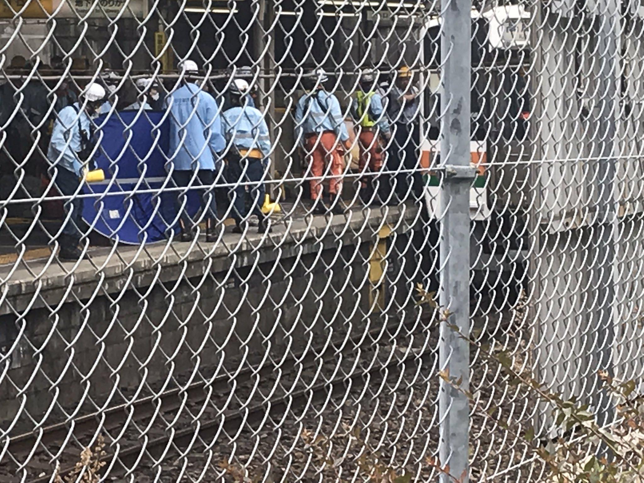 中央本線の千種駅で人身事故が起きた現場画像