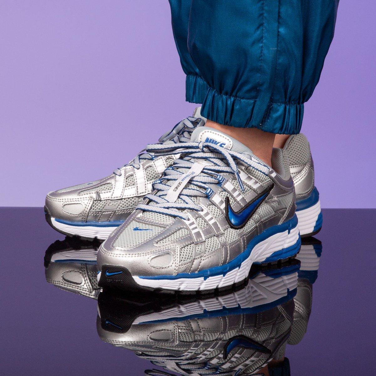 newest 945f3 c06f7 Nike Wmns P-6000 -Metallic Silver Team Royal-White-Black SHOP HERE   https   t.co lo0QFHzxCT…