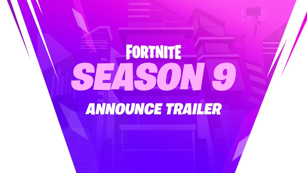 The Future is… yours!  Downtime for Season 9 has begun. Dive into the patch notes to see what's new: https://www.epicgames.com/fortnite/patch-notes/v9-00…