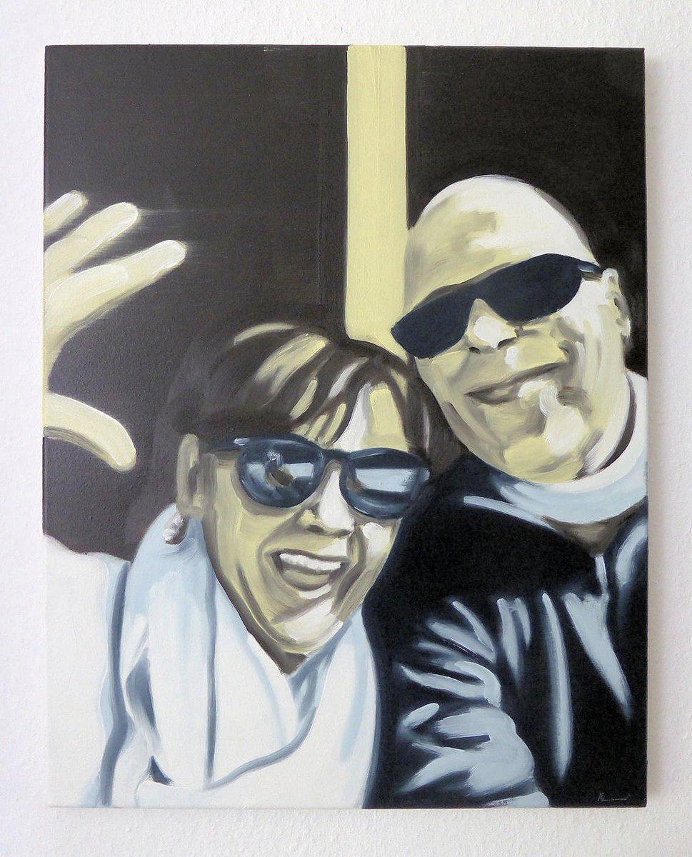 "Painted selfie with celeb no. 6, ""You and me 06, Barbara"" 50x40cm, oil/canv, 2019. #art #artwork #kunst #Painting #malerei #Selfie #Promiselfie #socialmedia #socialmediapainting #dortmund  Http://instagram.com/eckhardbremerpic.twitter.com/wfiyqactJz"