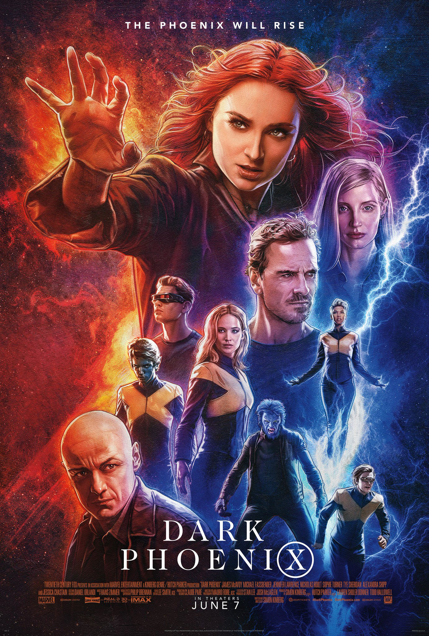 Dark Phoenix Gets A Cool Drew Struzan Inspired Poster Featuring