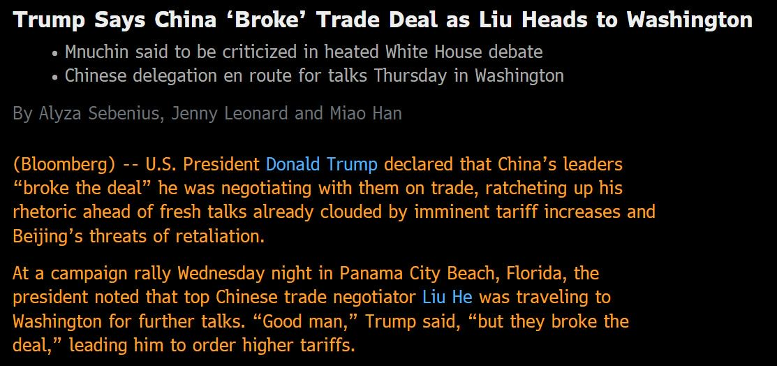 Trade War? No. Negotiation