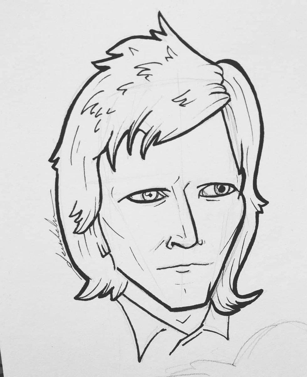 Bowie #dailyart #dailyillustration #bowie #davidbowie #portrait #singer https://t.co/stM5v2nm2J