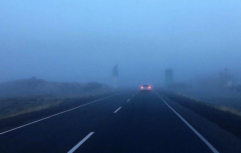 #Chubut 09/05/19 08:45hs Ruta N3 #Trelew-Garayalde y Garayalde – #Comodoro con bancos de Niebla – Visibilidad reducida. Calzada húmeda. Idem RN25 Trelew-Gaiman-Dolavon. Transitar con extrema precaución. #VialidadNacional