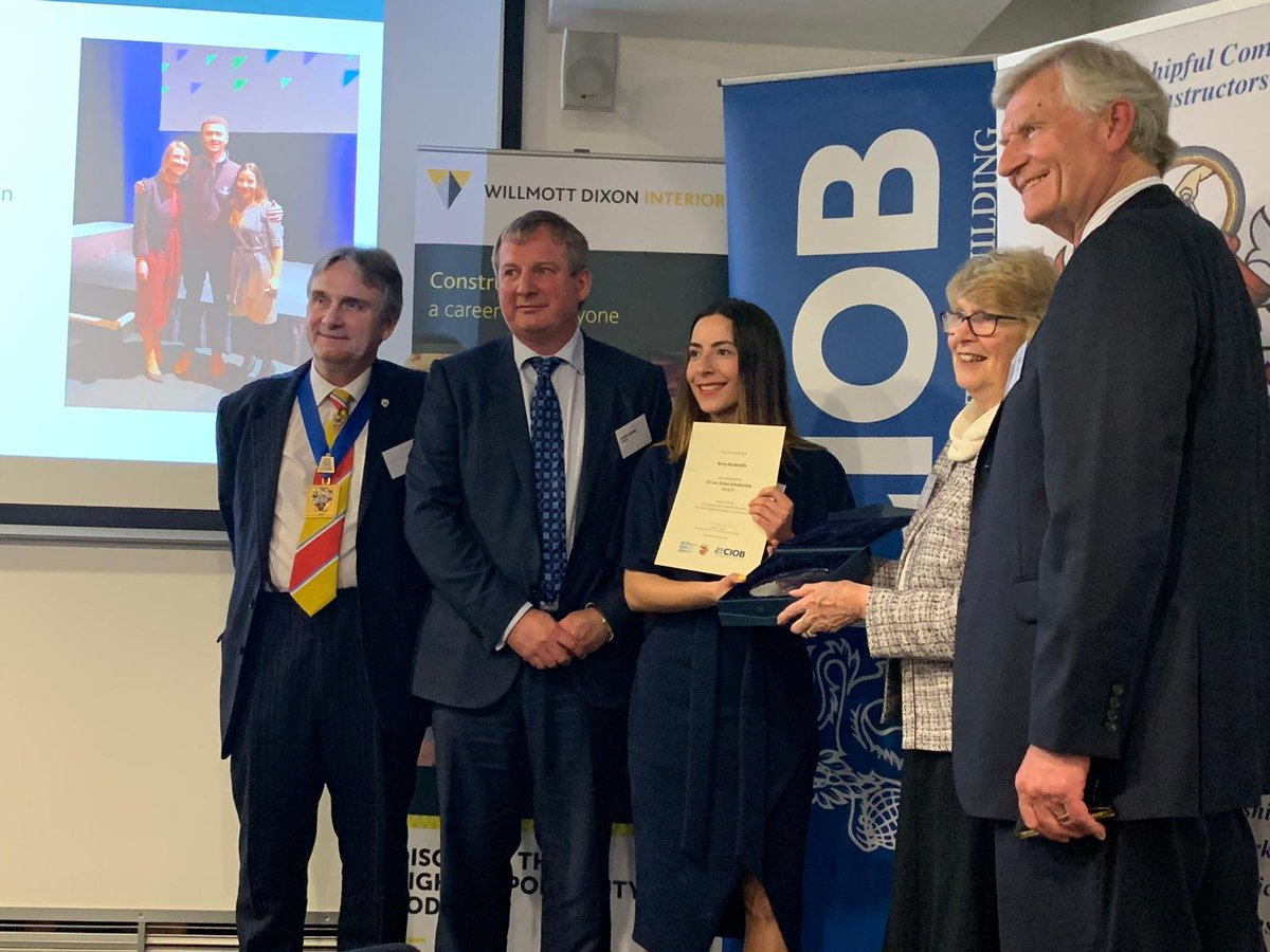 What a fantastic evening at The Sir Ian Dixon Foundation Presentation evening last night. Huge congratulations to Anna Koukoullis, our head of social value, who presented her findings on The UK's Forgotten Youth: Training and #Employment Opportunities in #Construction