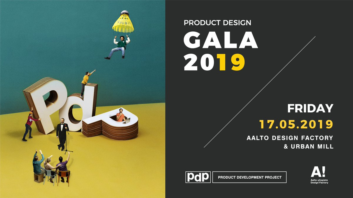 Atte is one of the PDP participants from @HAMK_UAS. Participating Product Design Gala is a chance to see all the results and experience the atmosphere!