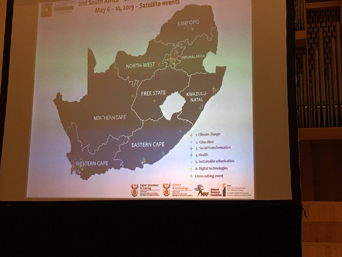 Over 50 workshops with more than 1500 participants during South Africa Sweden University Forum #sasuf during research and innovation week in South Africa 6-10 May - #Agenda2030 #SDG