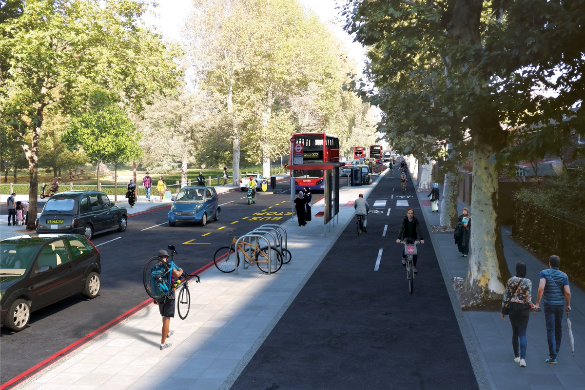 We've set out plans for a major new Cycleway in east London between Hackney and the Isle of Dogs 🚲 🏝️ 🐕  This will transform streets and public spaces, making them much more welcoming for people walking and cycling 🚶 🌳  📣 Have your say:consultations.tfl.gov.uk/cycling/hackne…