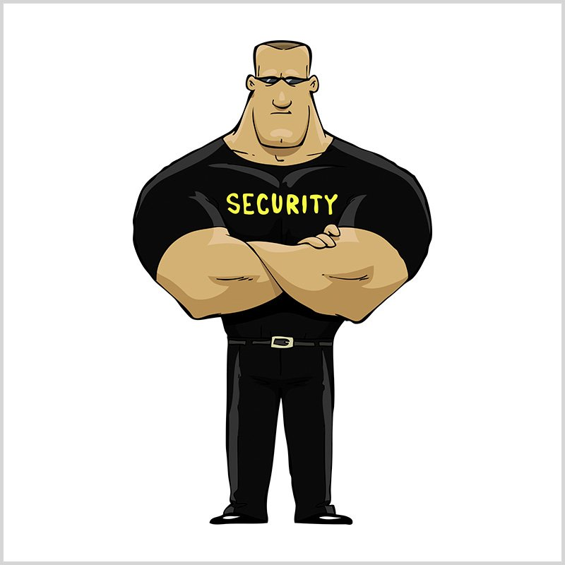 Днем, веселые картинки охранников