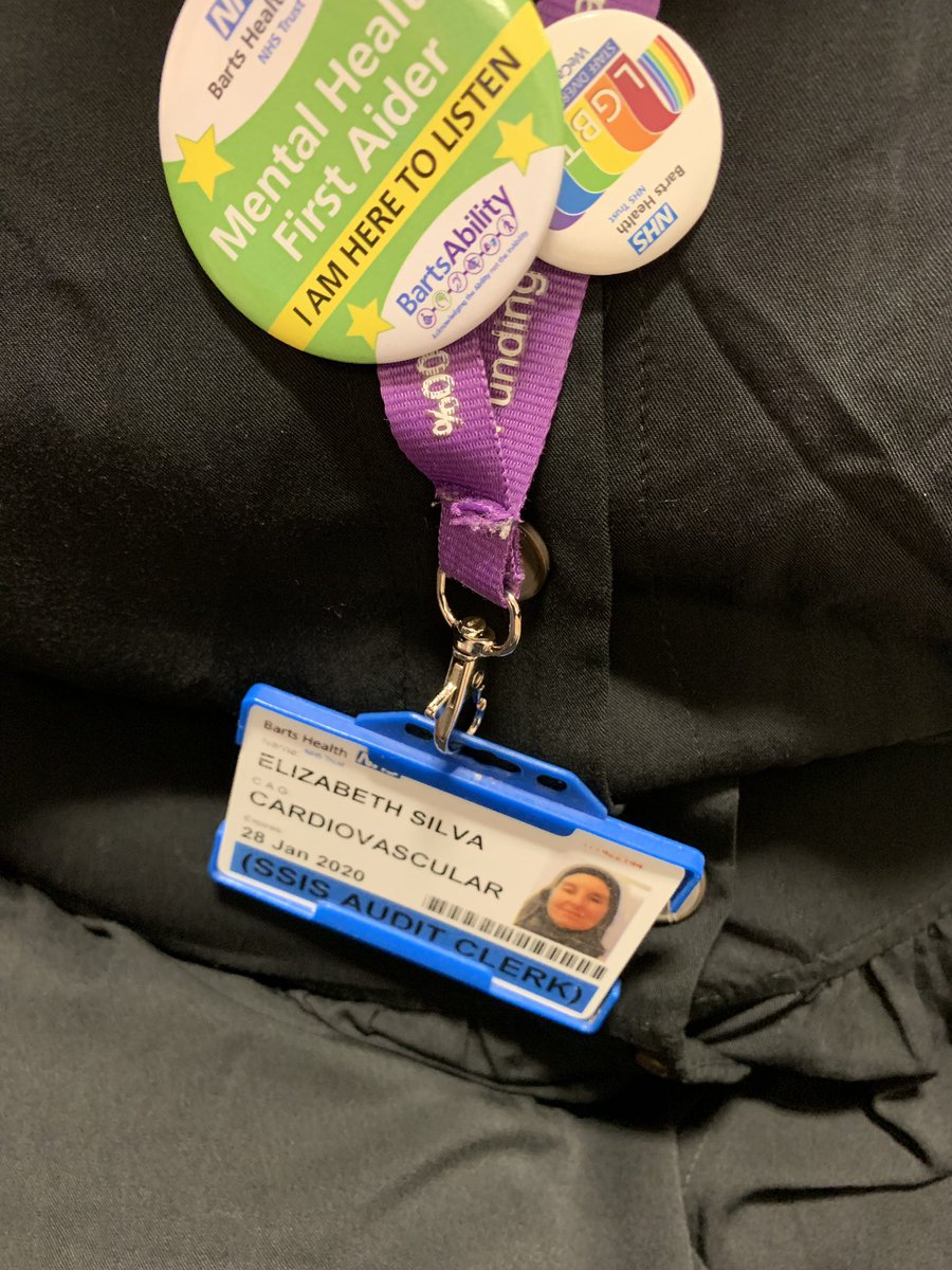 Got my @MHFAEngland badge today. So excited🤩We have lots of plans for #MentalHealthAwarenessWeek @BartsAbility @OyebanjiAdewumi @NHSBartsHealth @creigh_j @KellyannPrime @mdstbarts @BartsHospital
