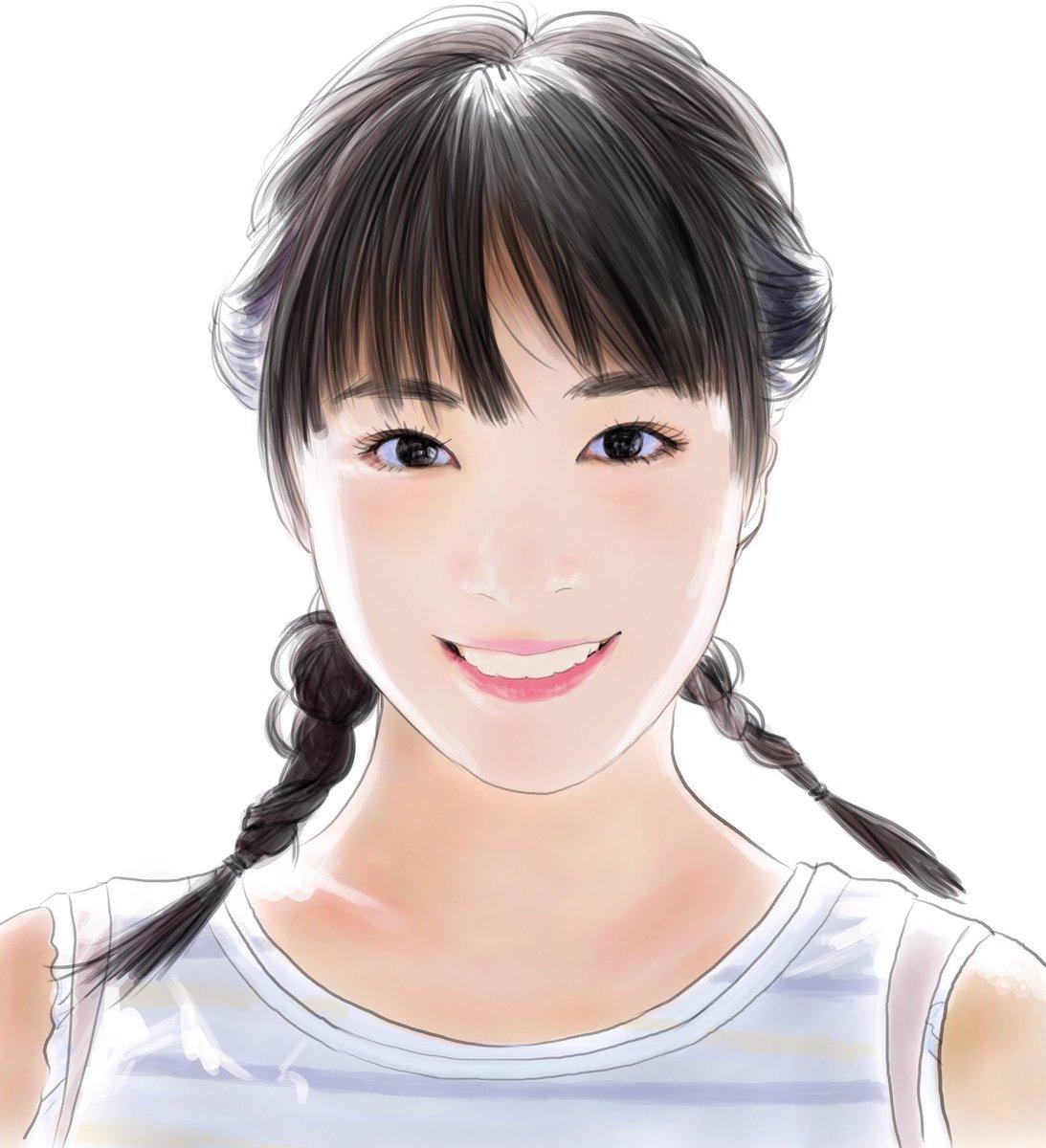 てらりん On Twitter 広瀬すずさん At Suzumg 似顔絵 イラスト