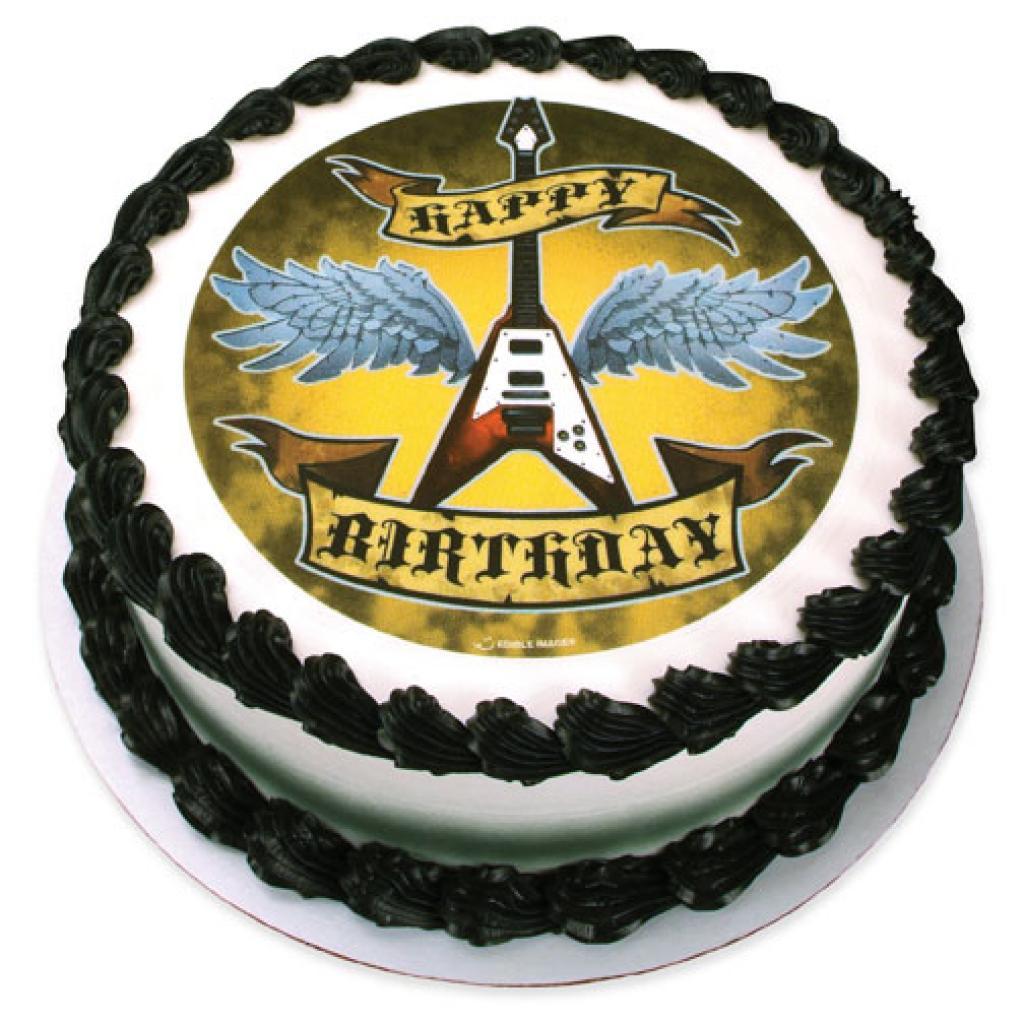 Поздравления с днем рождения в стиле рок картинки