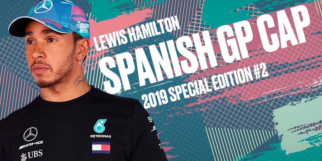 Mercedes Benz F1 Special Edition Lewis Hamilton 2019 Spain Barcelona GP Hat