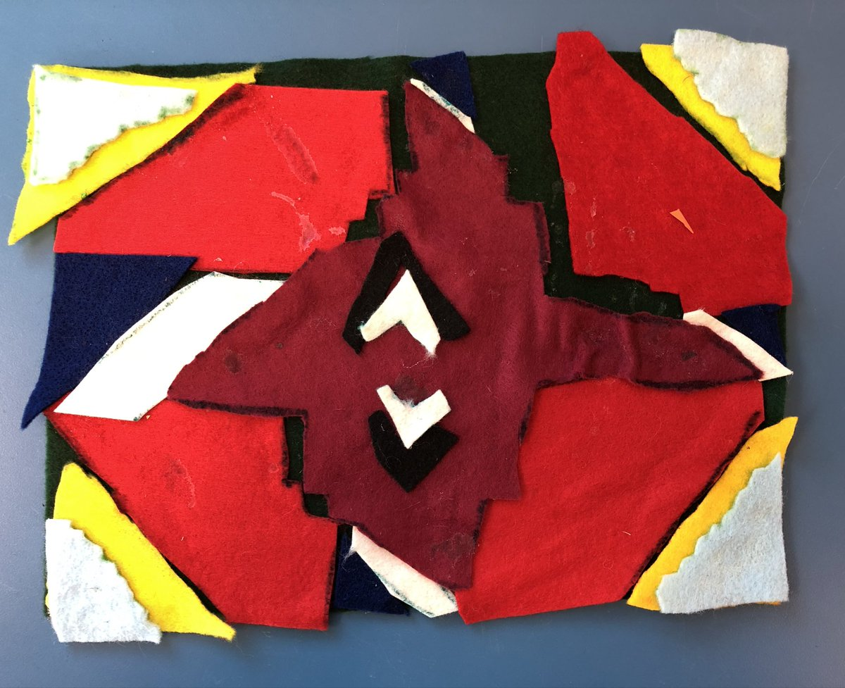Love these Ndebele wall painting inspired felt designs. 2nd grade students learn about geometry and symmetry <a target='_blank' href='http://twitter.com/longbranch_es'>@longbranch_es</a> <a target='_blank' href='http://twitter.com/APSArts'>@APSArts</a> <a target='_blank' href='https://t.co/9VPkkQoWHU'>https://t.co/9VPkkQoWHU</a>