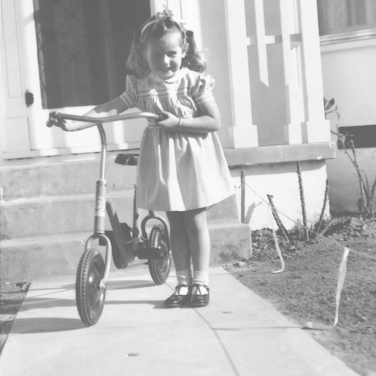 Girls: You do not have to choose between being feminine and athletic. You can be both! I wore dresses as a child, but I also rode the heck out of this, my first bike, all over town. 🚲 #ThrowbackThursday #NationalBikeMonth