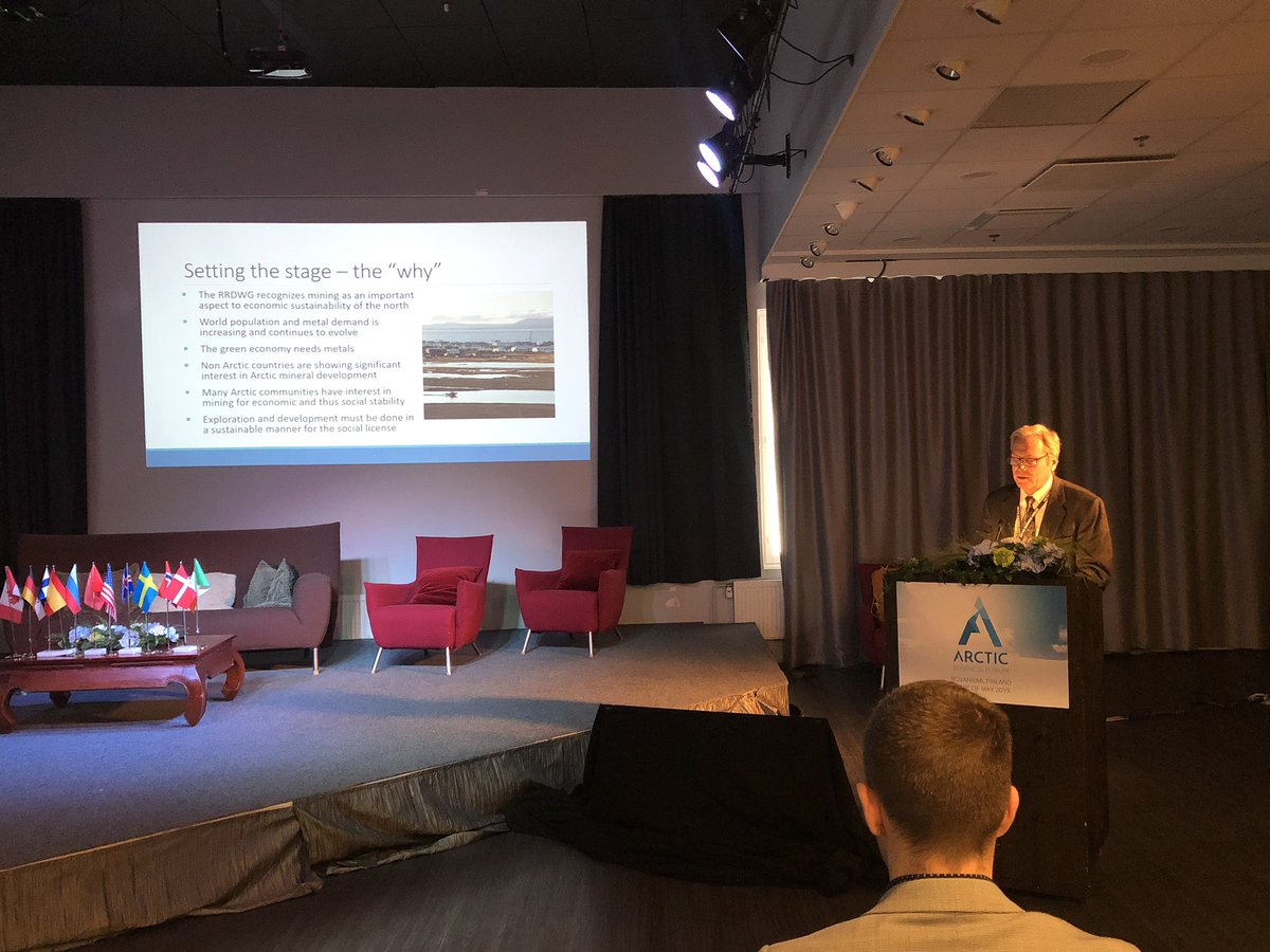 Responsiblitity is key to get  a social licence to operate, says Bruce Harland Co-Chair for the AEC Responsible Resource Development WG at @ArcticBusinessF