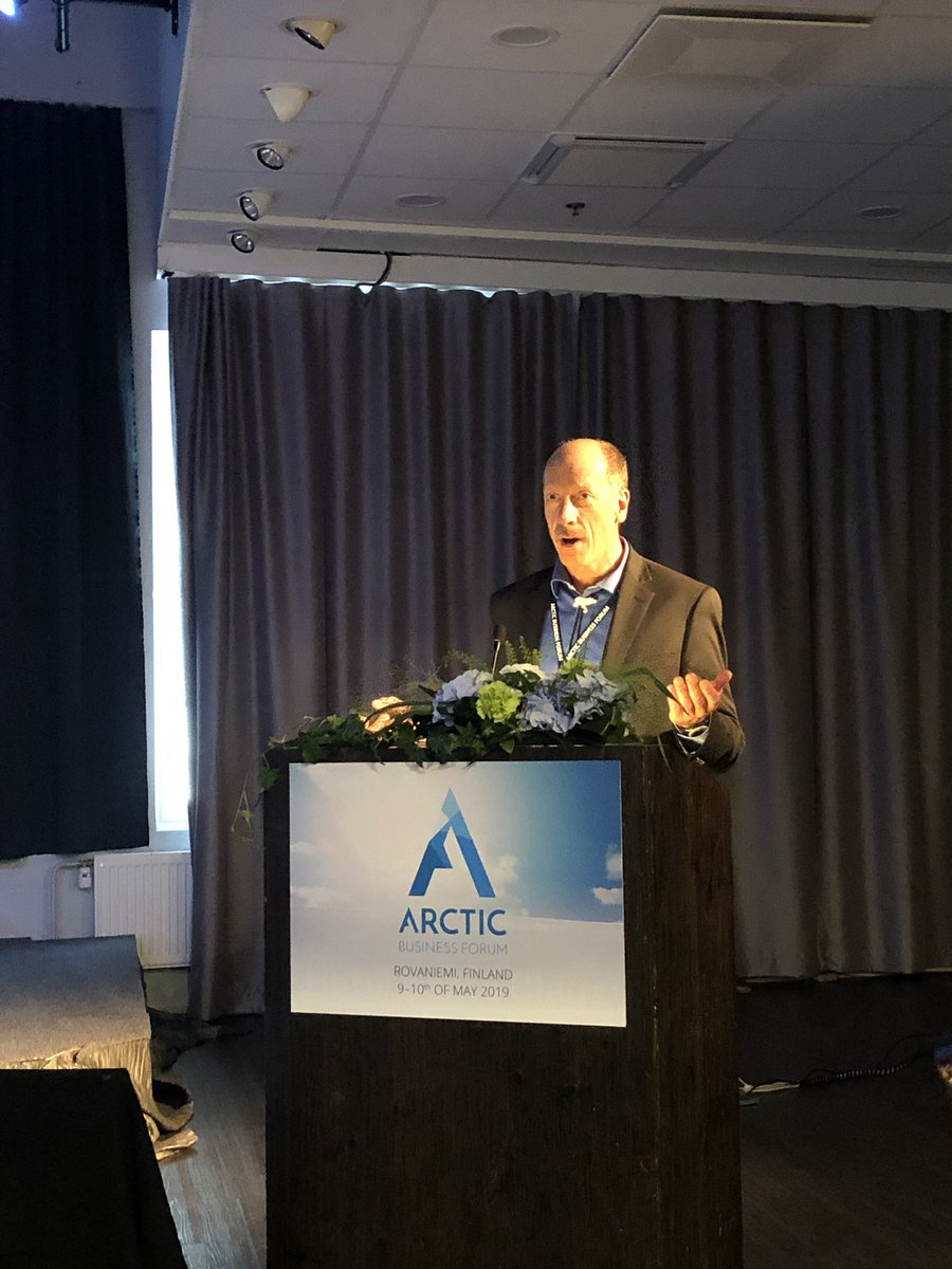 Demand for #mining is going to continue, we need to find ways to integrate mining to the green economy. Base #metals like copper and zinc are needed to make the #green shift, says Lance Miller from @NANACorporation at @ArcticBusinessF