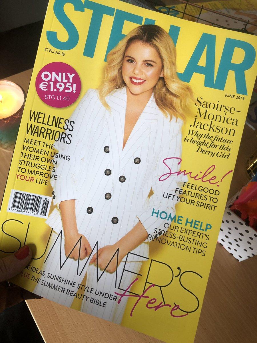 Love love love the new issue! @SaoirseJackson @stellarmagazine #derrygirls @Channel4 ☀️