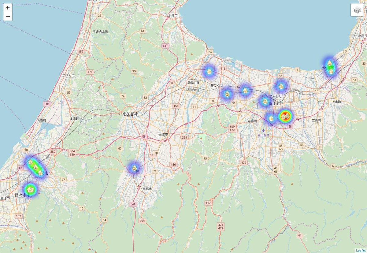 ダイエット中の人は閲覧禁止だぷ~日本全国で二郎系ラーメンが食べられる場所を可視化するマップを作った物語  #Qiita