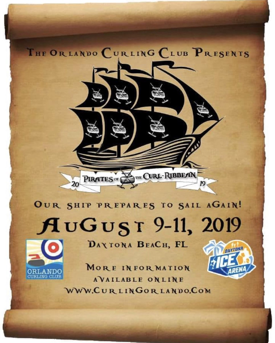 Sad that your ice is gone? Not sure how you'll get through the summer without ?? Schedule a summer Bonspiel!! We have ice all year in FL!!  #WhyNot   Space is limited to 24 teams! #HurryHard #GoodCurling    http://www. curlingorlando.com/pirates.html     <br>http://pic.twitter.com/igSpyIACMf