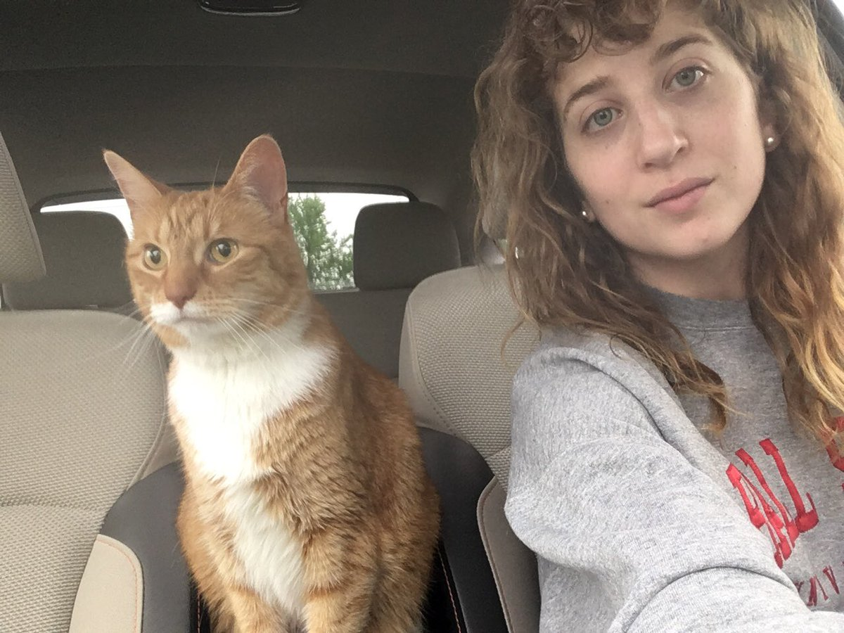 One time I saw a lady driving with her cat in the front seat... today, I became that lady