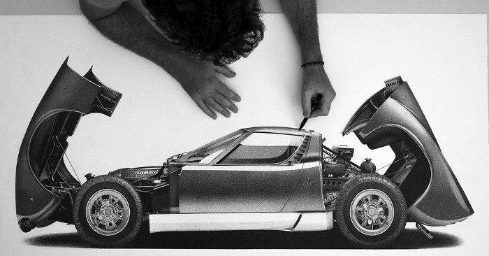 Disegni iperrealistici di auto d'epoca dell'artista #AlessandroPaglia #arte #iperrealismo #disegno: https://t.co/BTcVcCczia https://t.co/q65ooRiOW4