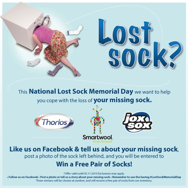 Eneslow Shoes On Twitter Today Is Lost Sock Memorial Day Tell