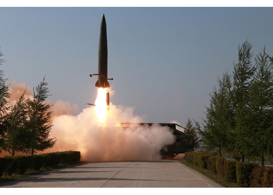 #NorthKorea released images of today's missile testing.