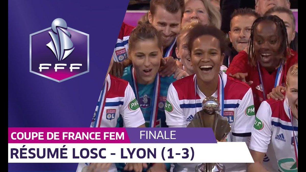 Les Lyonnaises ont remporté la Coupe de France Féminine en s'imposant 3-1 face à Lille 🏆 C'est le 8ème titre dans cette compétition pour l'@OL !